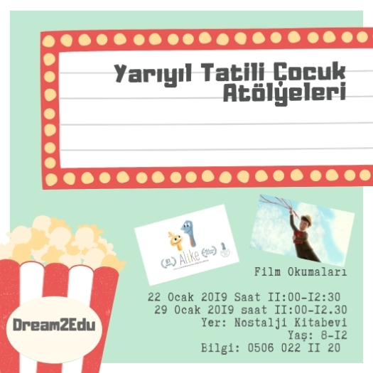Cream with Orange, Blue, and Yellow Movie Icons Movie Night Invitation